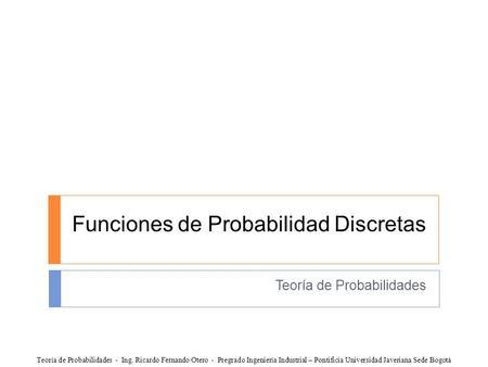 Funciones de distribucion variables aleatorias