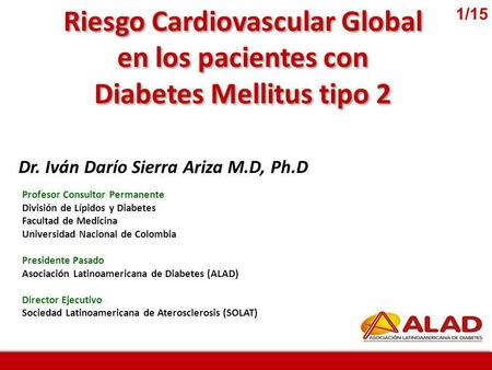 Riesgo Cardiovascular Global Diabetes Mellitus tipo 2
