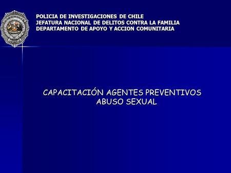 CAPACITACIÓN AGENTES PREVENTIVOS ABUSO SEXUAL