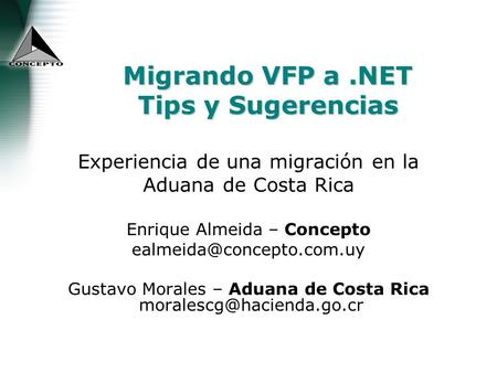 Migrando VFP a .NET Tips y Sugerencias