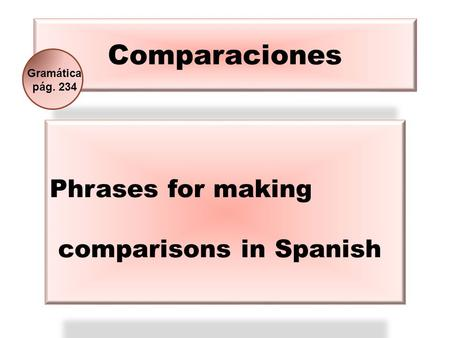 Phrases for making comparisons in Spanish