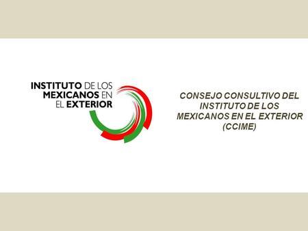 Vi Reuni N Del Consejo Consultivo Del Instituto De Los Mexicanos En El Exterior P Tzcuaro