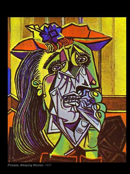 Cubismo Picasso, Portrait of Ambroise Vollard. 1910 Picasso, Weeping Woman. 1937.