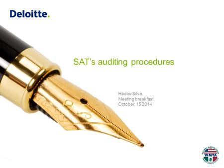Héctor Silva Meeting breakfast October, 15 2014 SAT's auditing procedures.