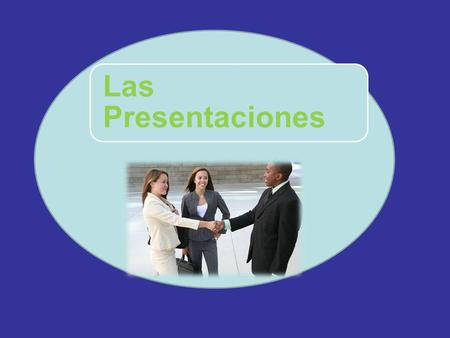 "Las Presentaciones.  When you want to introduce people to one another, you use the verb presentar  The verb in the first person ""I present"" is always."