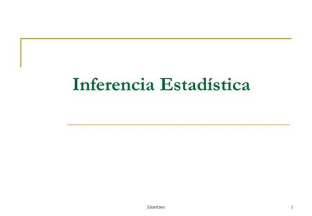 Inferencia Estadística