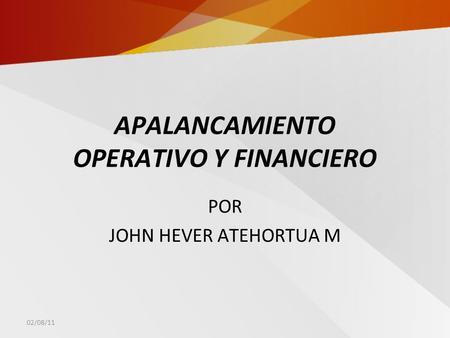 Apalancamiento financiero y operativo