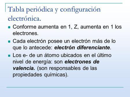 Tabla peridica ppt video online descargar tabla peridica y configuracin electrnica urtaz Image collections