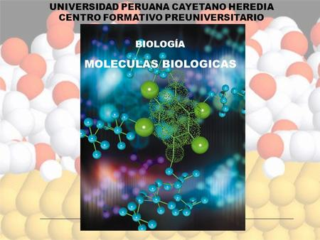 MOLECULAS BIOLOGICAS UNIVERSIDAD PERUANA CAYETANO HEREDIA