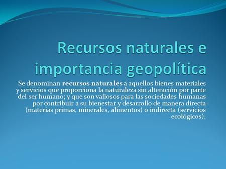 Geopolitica importancia