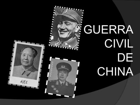 GUERRA CIVIL DE CHINA.