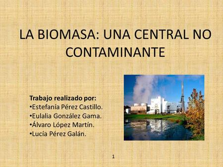 LA BIOMASA: UNA CENTRAL NO CONTAMINANTE