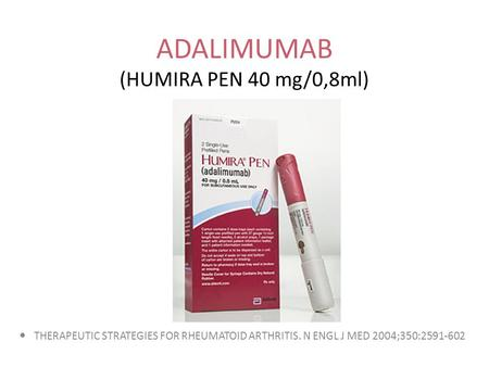 ADALIMUMAB (HUMIRA PEN 40 mg/0,8ml)