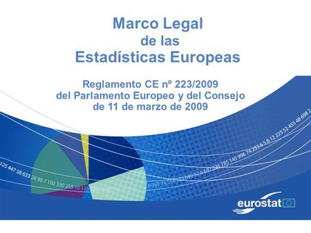 Marco Legal de las Estadísticas Europeas
