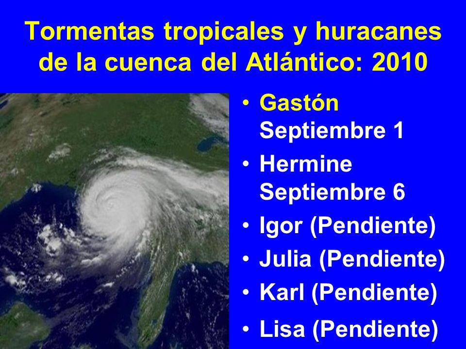 Tormenta tropical Hermine cambión de depresión tropical 10 a tormenta tropical y se formó en el Golfo de México frente a la costa de Texas el Lunes, 6 de Septiembre.