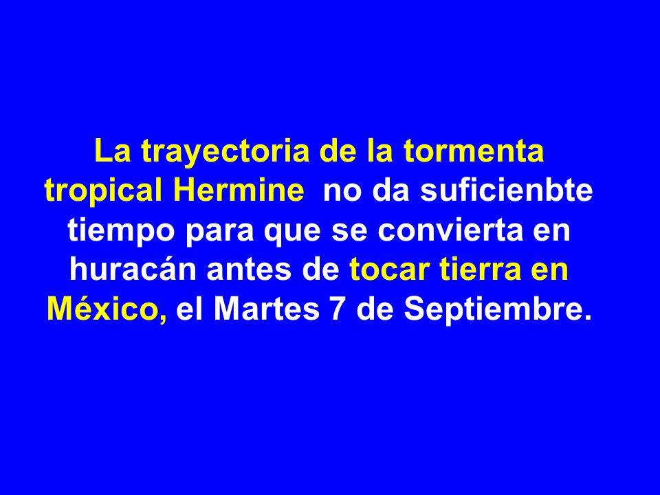 Tormenta tropical Hermine: 6 Septiembre 2010