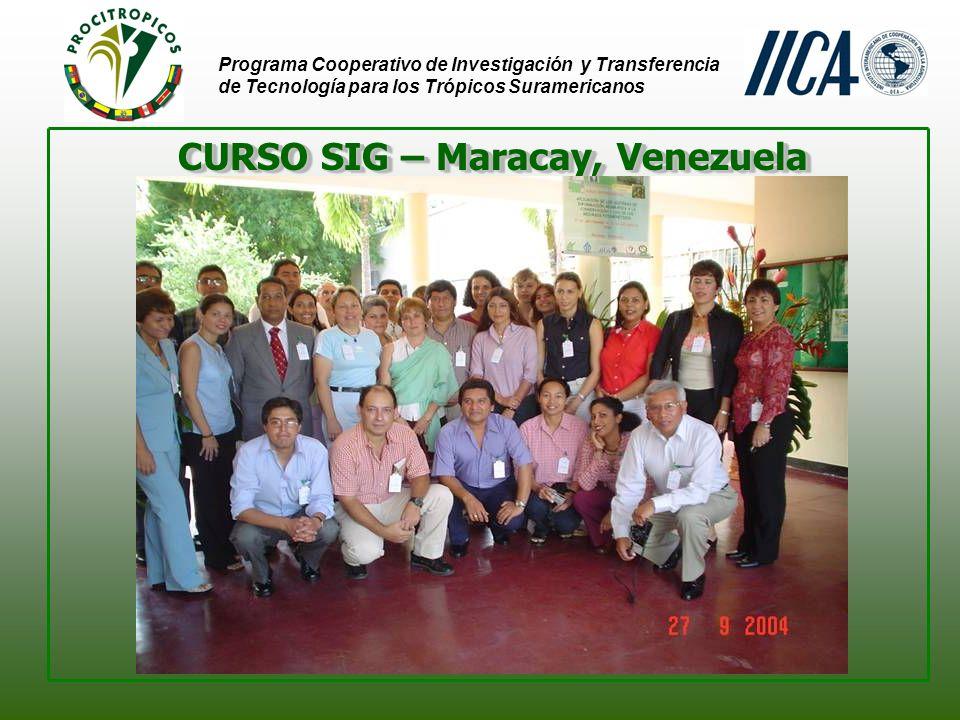 Programa Cooperativo de Investigación y Transferencia de Tecnología para los Trópicos Suramericanos CURSO MARCADORES MOLECULARES - Brasilia