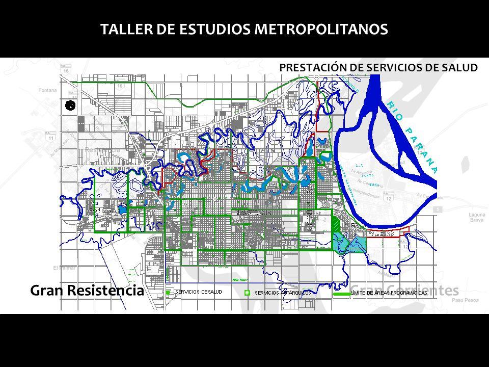 Gran Corrientes TALLER DE ESTUDIOS METROPOLITANOS PRESTACIÓN DE SERVICIOS DE SALUD Corrientes Capital se encuentra dentro de la zona Sanitaria I, Brinda atención médica en primero, segundo y tercer nivel es decir, ambulatoria, internaciones, clínicas, quirúrgicas y de alta complejidad.