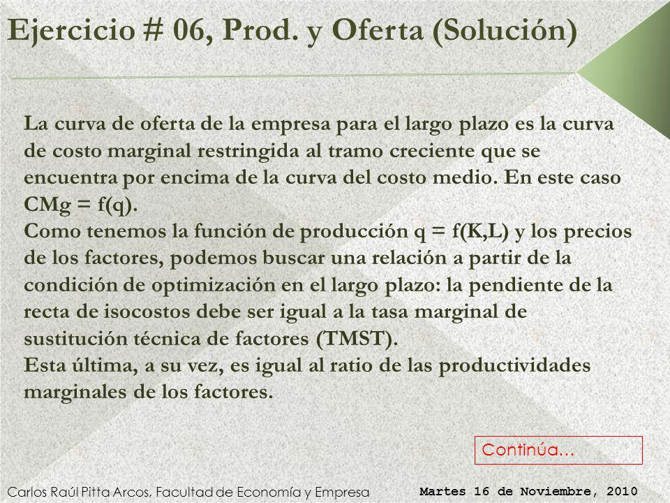 Ejercicio # 06, Prod.