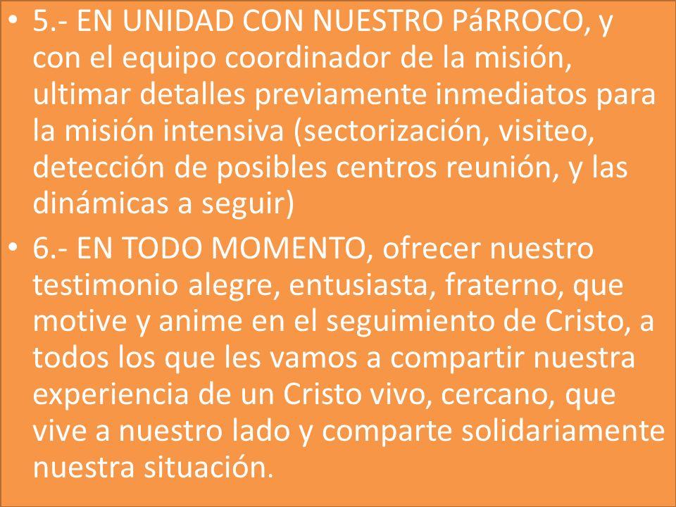 CONCLUSION 7.- FINALMENTE, TODO LO PODEMOS RESUMIR EN UNRECOMENZAR DESDE CRISTO.