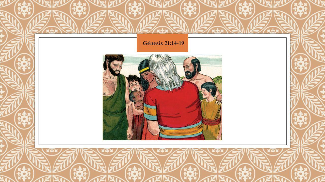Entonces Abraham se levantó muy de mañana, y tomó pan, y un odre de agua, y lo dio a Agar, poniéndolo sobre su hombro, y le entregó el muchacho, y la despidió.