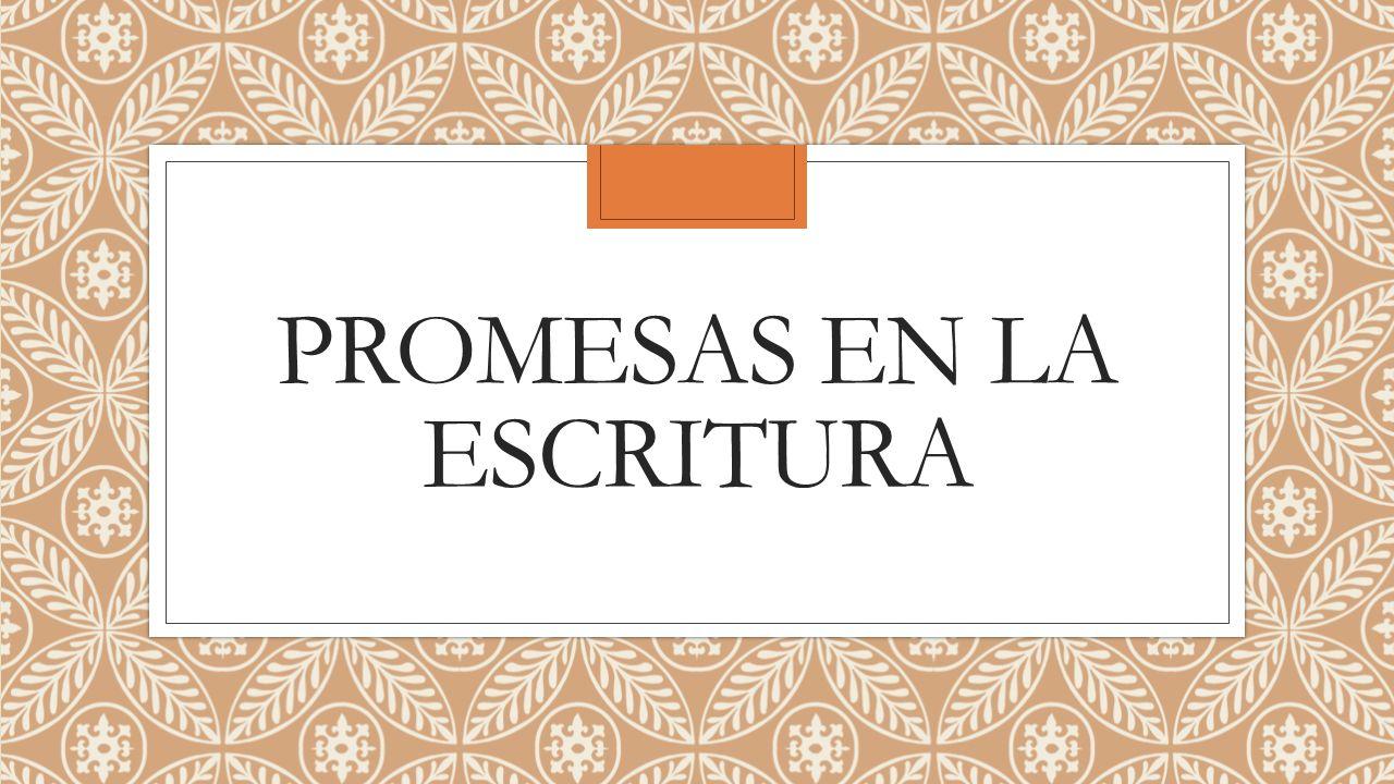 Promesas en la Escritura Salmos 4:8 En paz me acostaré, y asimismo dormiré; Porque solo tú, Jehová, me haces vivir confiado.