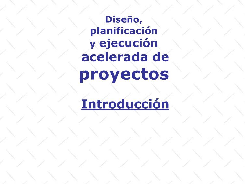 Definiciones Diseño: Creación del abordaje final de ejecución de un proyecto Plan Curso de acción futura deseado Proyecto Serie de actividades interrelacionadas que buscan cumplir una serie de objetivos y poseen restricciones de tiempo, recursos, y calidad.