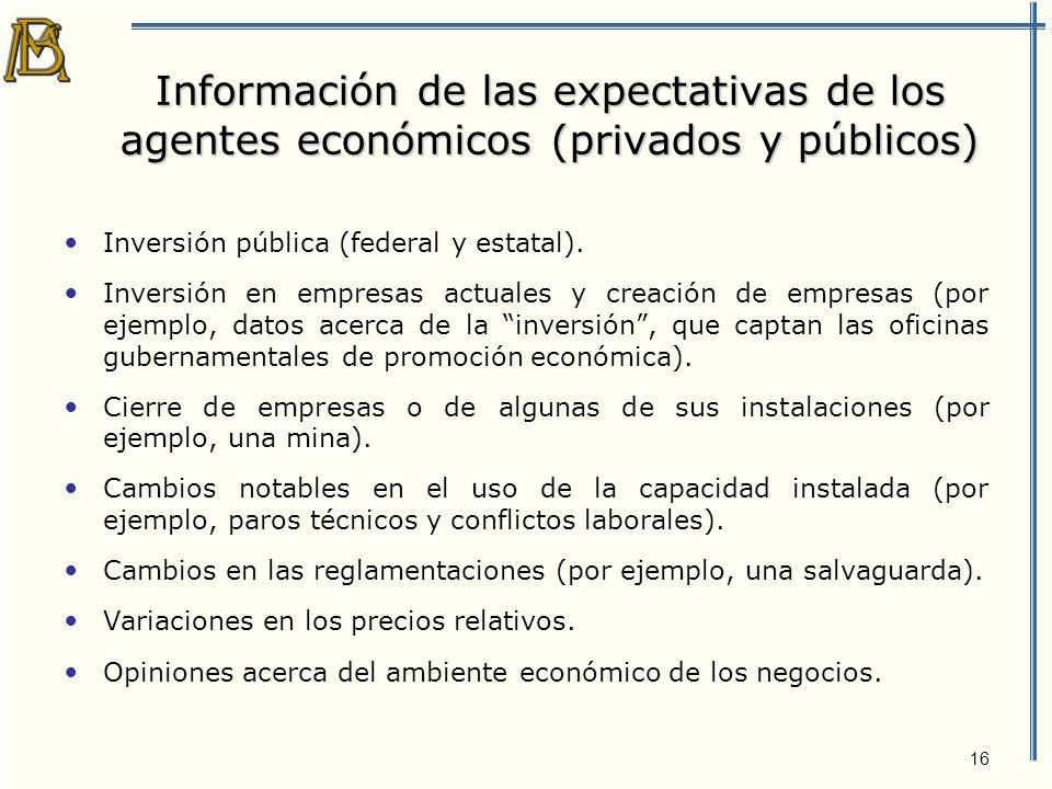 17 ¿Qué es deseable acerca de la información de la inversión.