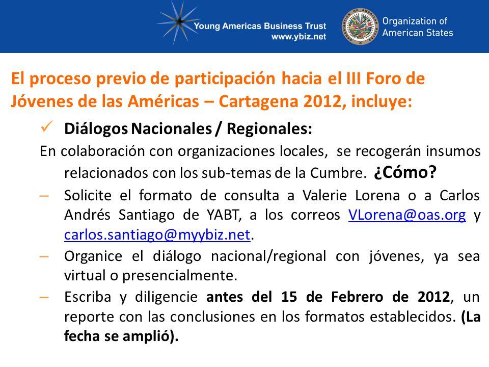 Se realizarán entre el 23 de enero, y el 8 de febrero de 2012 en diversas ciudades del país.