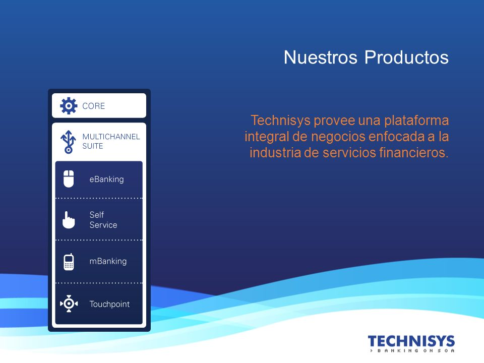 CyberBank Suite es una solución completa que permite el despliegue de aplicaciones financieras centrales y multicanal en forma personalizada.