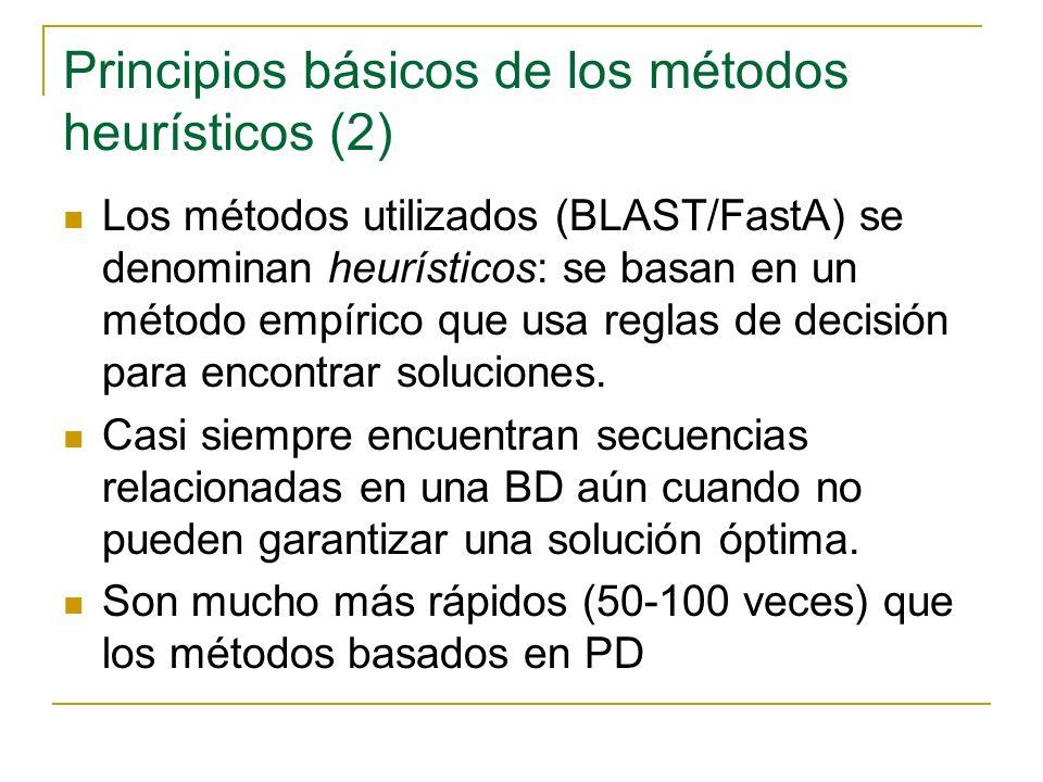 Búsqueda de una secuencia en una Base de datos con FastA o con BLAST Se realiza con FastA o con BLAST Uso de ambos programas es parecido.