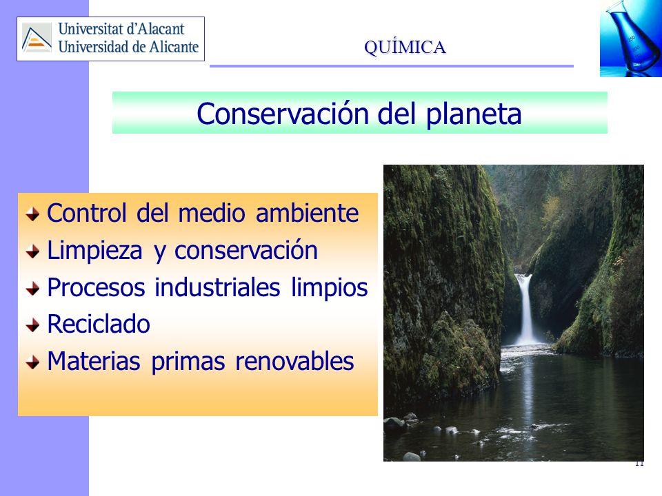 QUÍMICA 12 Desarrollo de nuevos materiales y fuentes de energía.