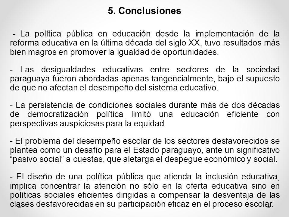 6. Lineamientos de Políticas Públicas