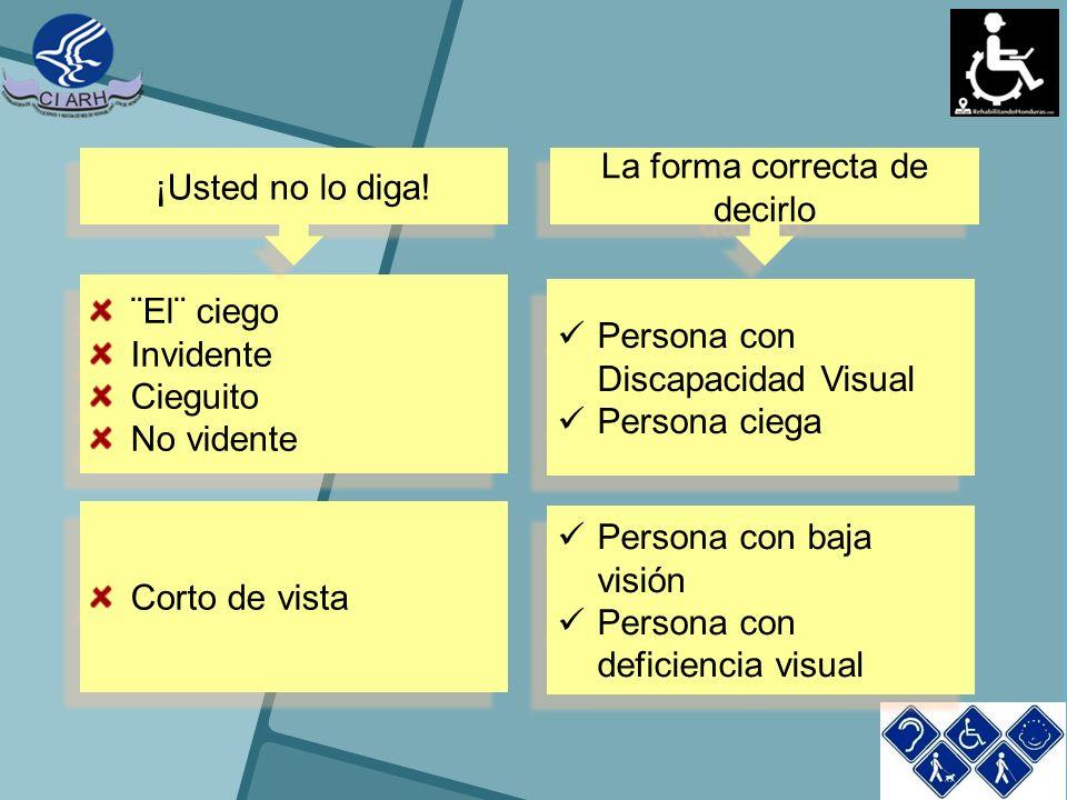 ¿Que hacer para ayudar a una persona con discapacidad Visual.