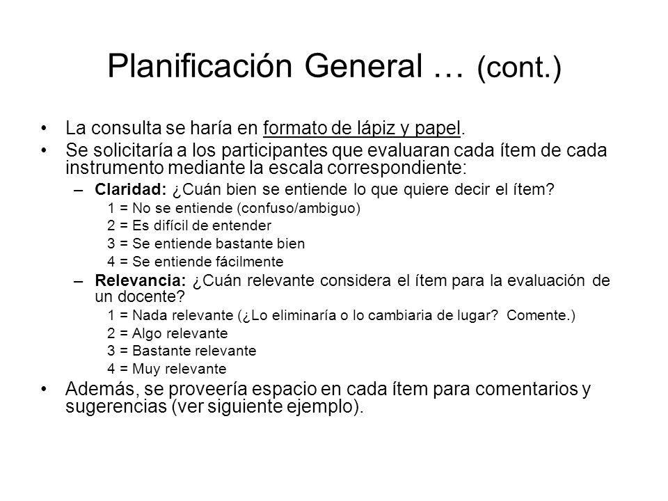 Componente 1: Enseñanza de las destrezas de InformaciónClaridadRelevanciaSugerencias/Comentarios Logra los objetivos de la enseñanza desde la perspectiva del usuario.
