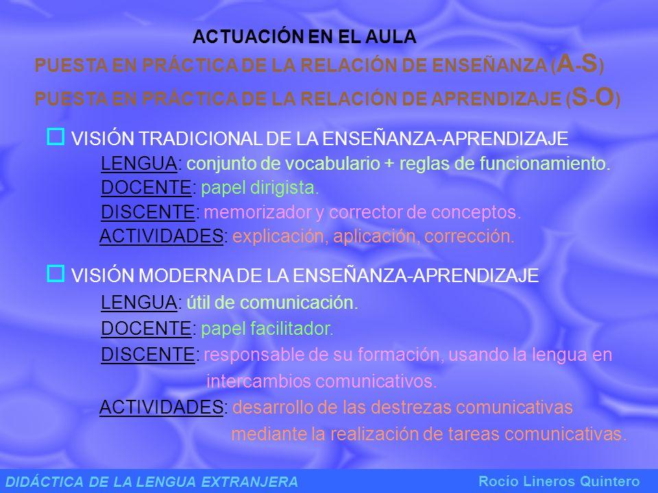 DIDÁCTICA DE LA LENGUA EXTRANJERA Rocío Lineros Quintero MATERIALES ELABORACIÓN DE MATERIAL DIDÁCTICO PAPEL DE LOS MATERIALES EN EL PROCESO DE ENSEÑANZA - APRENDIZAJE a.