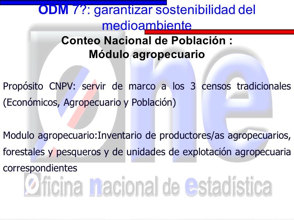 CNPV-Modulo agropecuario: variables captadas
