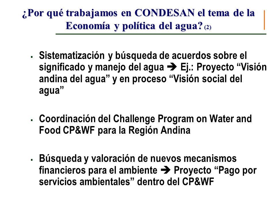 Componentes del Proyecto Cuencas Andinas