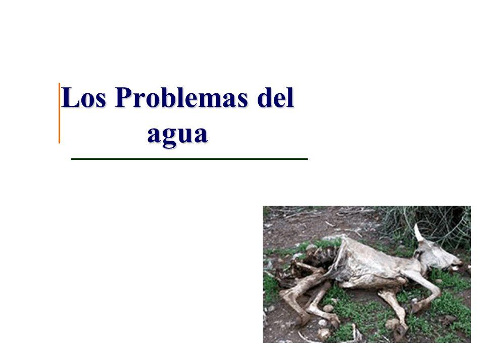 Los problemas con el agua
