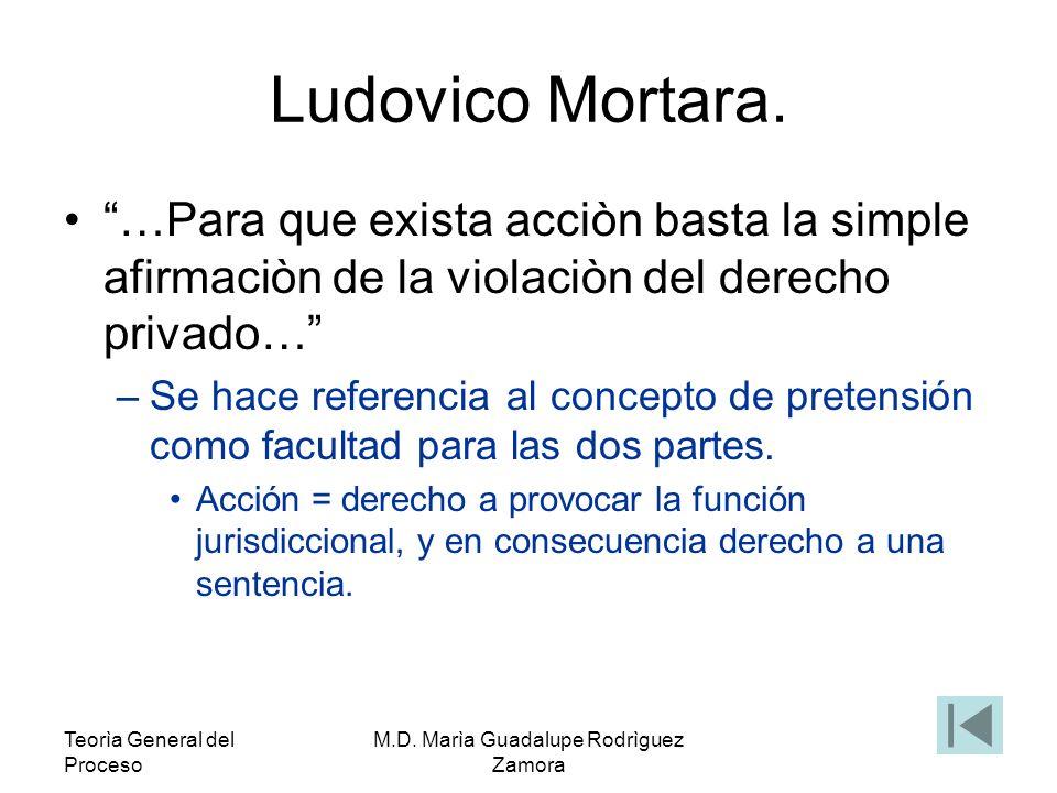 Teorìa General del Proceso M.D.Marìa Guadalupe Rodrìguez Zamora Cipriano Gómez Lara.