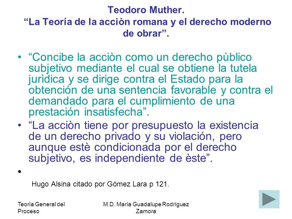 Teorìa General del Proceso M.D.Marìa Guadalupe Rodrìguez Zamora Adolf Wach.