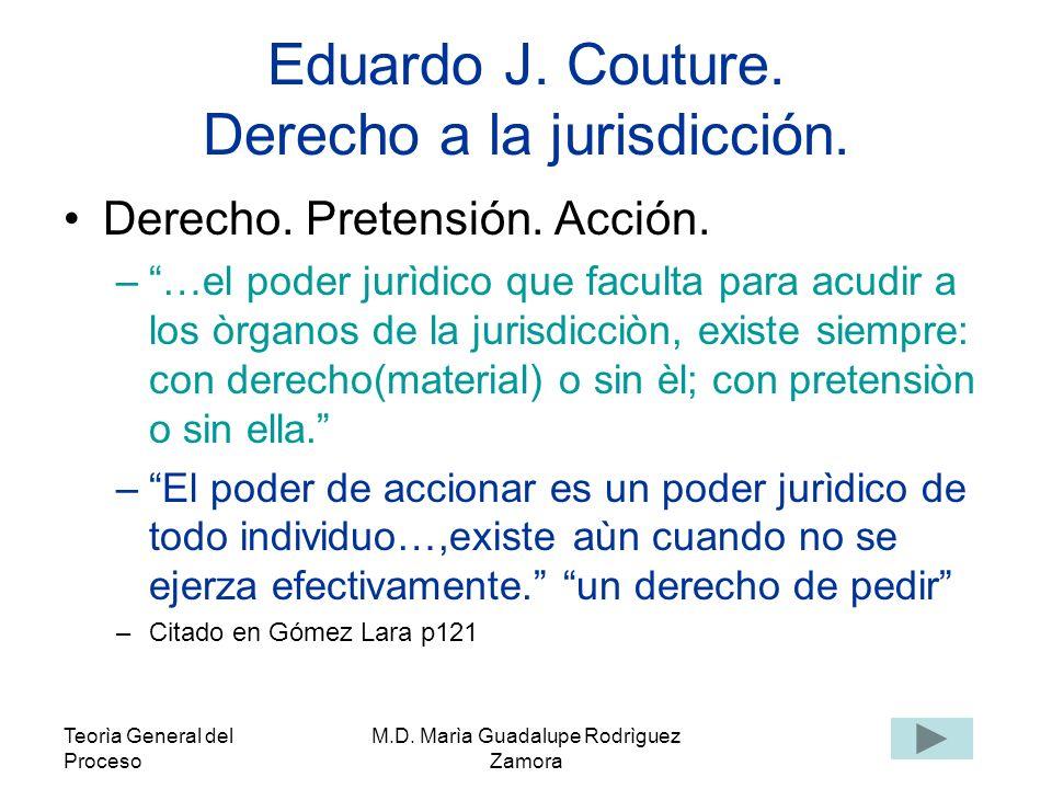 Teorìa General del Proceso M.D.Marìa Guadalupe Rodrìguez Zamora Hugo Alsina.