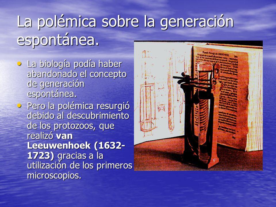 La polémica sobre la generación espontánea.Los protozoos eran organismos extremadamente simples.