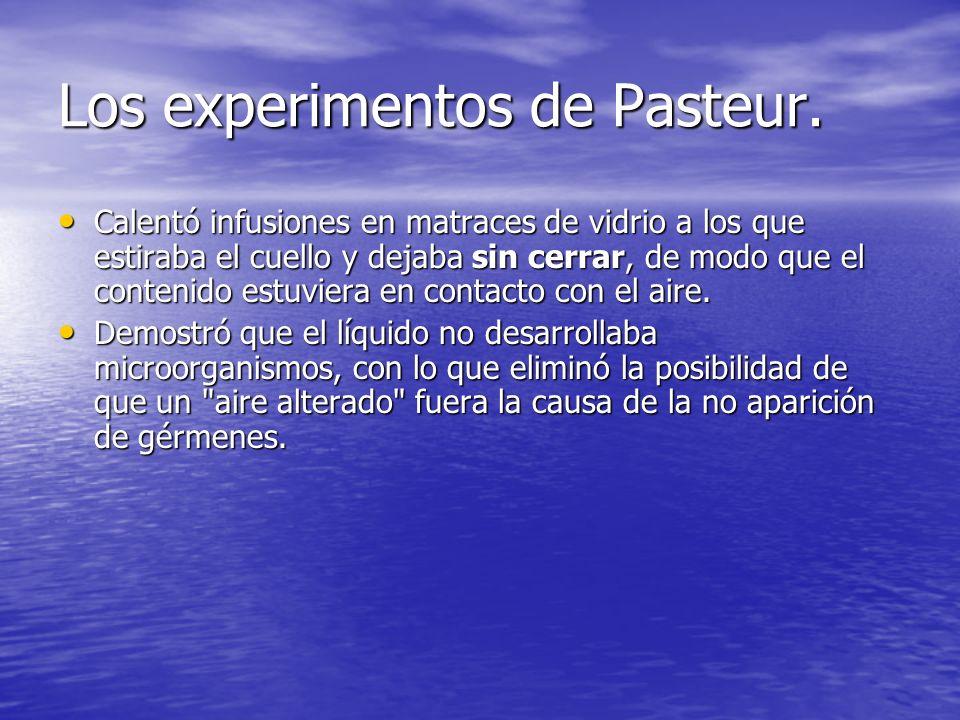 Los experimentos de Pasteur.
