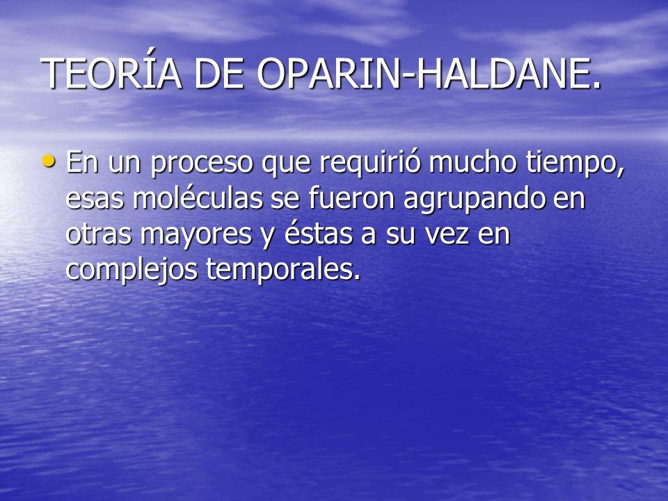 TEORÍA DE OPARIN-HALDANE.