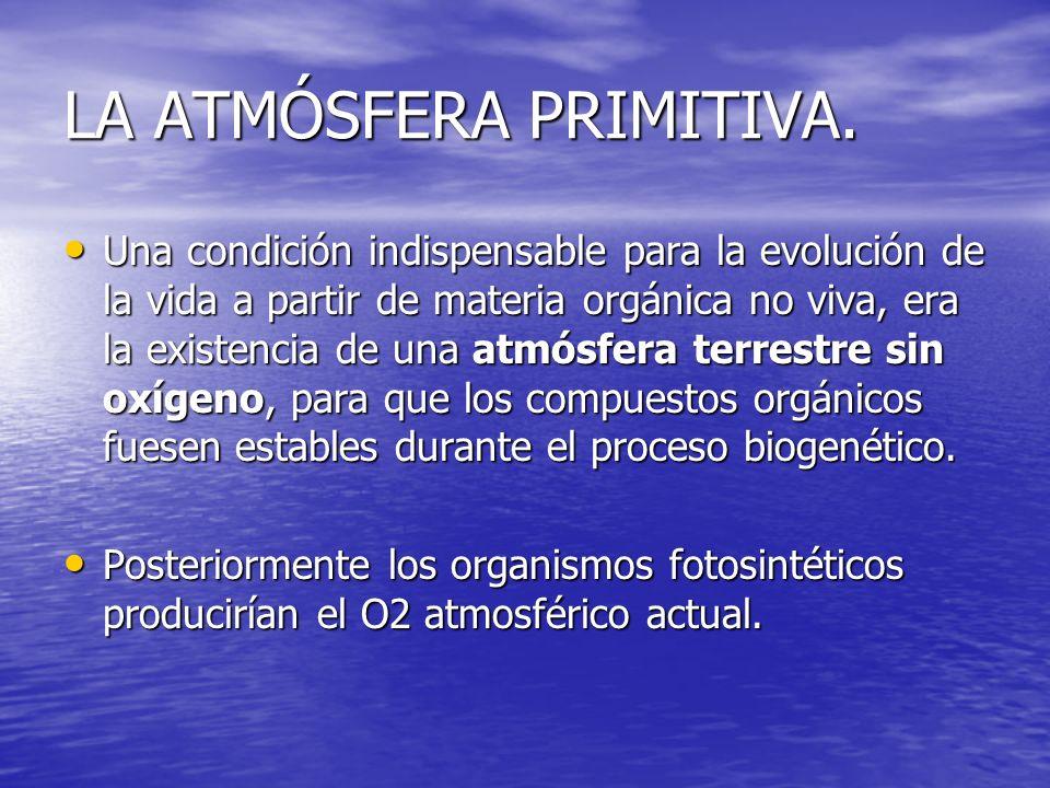 En resumen, la vida surgió en unas condiciones ambientales muy distintas a las actuales, las de la Tierra primitiva, a partir de moléculas orgánicas.