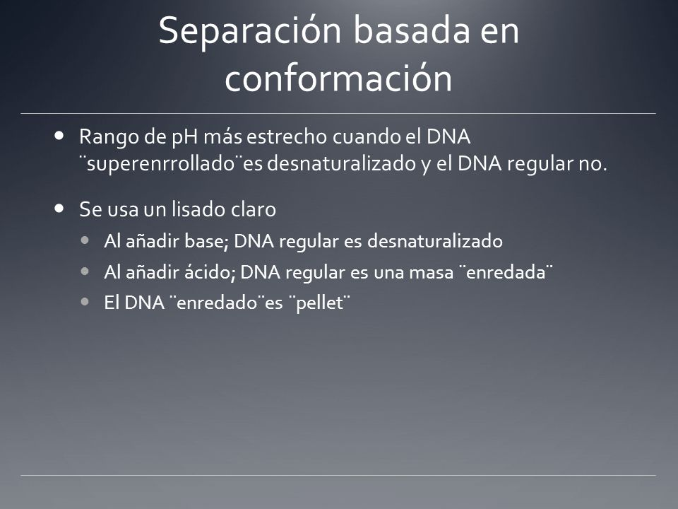 DNA Purification > Plasmid DNA