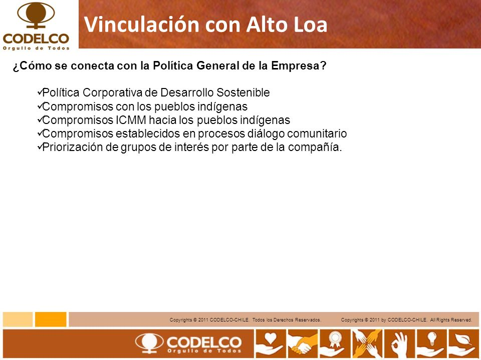 12 Copyrights © 2011 CODELCO-CHILE.Todos los Derechos Reservados.