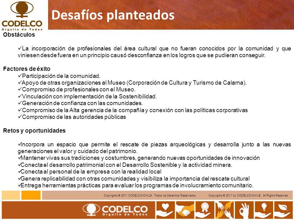 16 Copyrights © 2011 CODELCO-CHILE.Todos los Derechos Reservados.