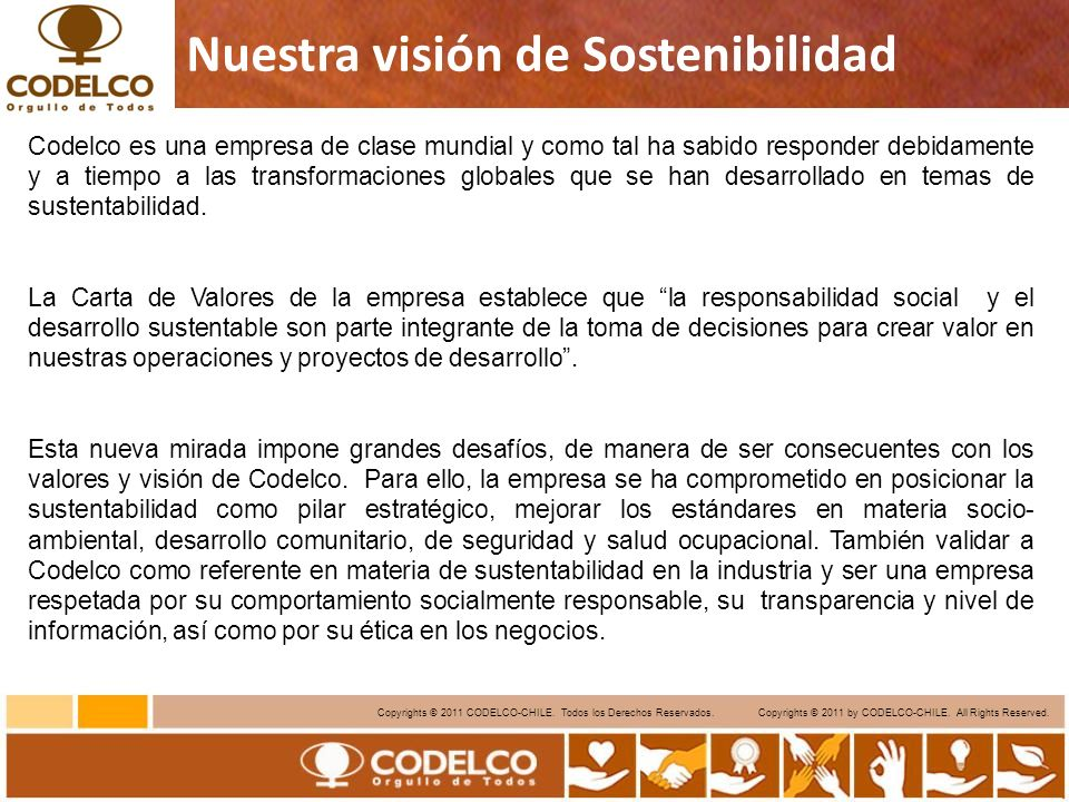 4 Copyrights © 2011 CODELCO-CHILE.Todos los Derechos Reservados.